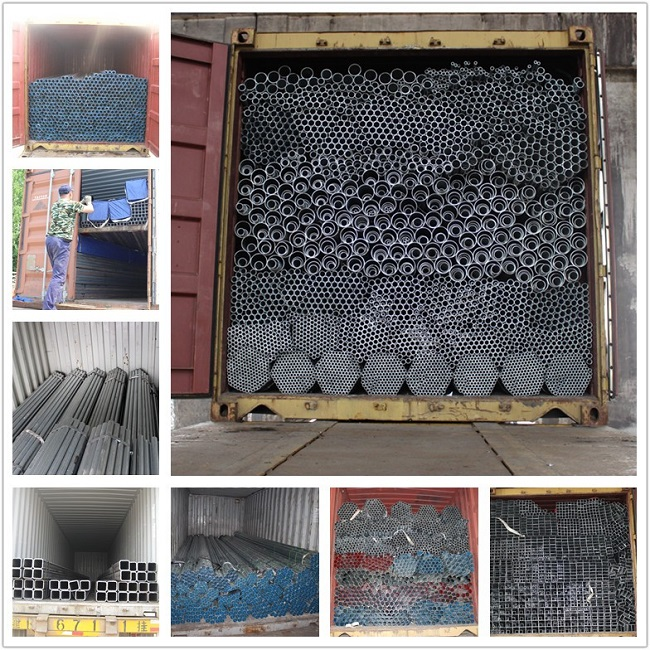 ERW / Square / Round Black Color Welded Steel Pipe With ASTM A53, BS1387, DIN2244
