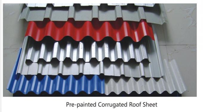 CGCC, DX51D Zinc Coating white, red, blue PRE PAINTED Corrugated steel Roof Sheets / Sheet